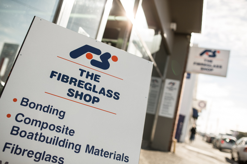 New Signage for the Fibreglass Shop in Argyle Street Hobart